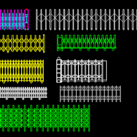 几款电动伸缩门CAD立面图