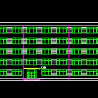 5185平米五层框架教学楼毕业设计(计算书、部分建筑、结构图、计算简图)