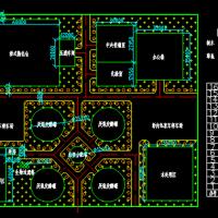 厌氧消化系统处理城市垃圾CAD设计图纸
