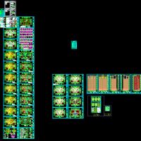 合肥7366平米18层住宅楼建结水电全套图