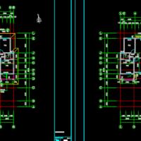 18层一梯四户三居室住宅楼户型图