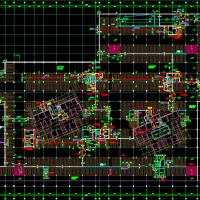 合肥某住宅小区人防车库建结水电暖全套图