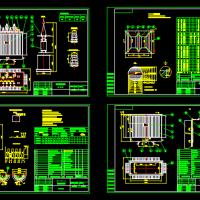 油浸式电力变压器CAD设计图