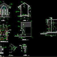 别墅住宅入口门厅CAD详图