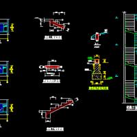 180度的旋转楼梯设计CAD图
