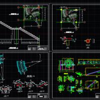 实用旋转楼梯全套CAD图