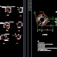 钢结构旋转楼梯节点详图