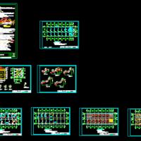 3层框架结构办公楼结构施工图(独立基础)