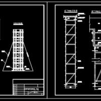 板梁柱模板及支撑CAD图