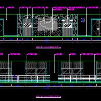 某地办公楼四套大中型会议室装修设计CAD图