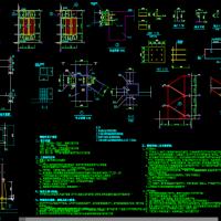 室外双跑钢楼梯CAD图纸