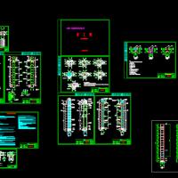 商业区新增室外观光电梯CAD设计图纸