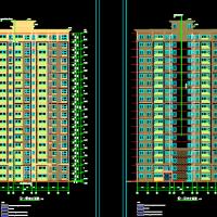 河南周口7424平米19层剪力墙住宅楼建筑图(2019一类高层)