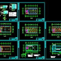三层小型办公楼电气图
