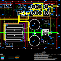 污水处理厂总平面布置图