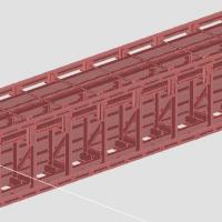 预制体育场看台板模具CAD三维图