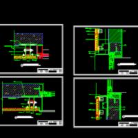 陶土板幕墙节点构造CAD详图