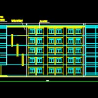 7120平米五层办公楼毕业设计图(含计算书,图纸)
