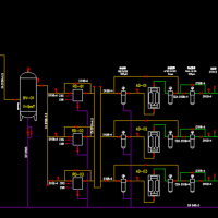 压缩空气系统流程设计CAD图