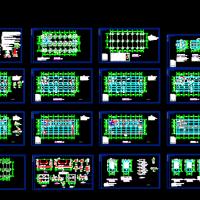 浙江某五层框架结构厂房结构图纸(沉管灌注桩)