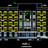 郑州某5层框架结构办公楼建筑和结构全套施工图(4000平米左右)