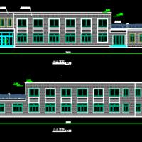 某厂区两层框架结构食堂建筑施工图纸