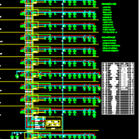 某工程消防报警联动系统图