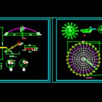 直径20米网壳结构CAD设计图