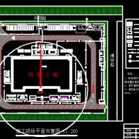 中学教学楼施工现场平面布置图
