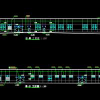 云南9385平米多层钢结构厂房建筑设计施工图
