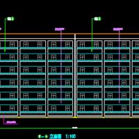 4430平米6层学生公寓楼毕业设计(计算书 清单 施组 横道图 网络图 施工总平)