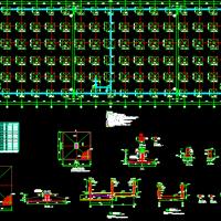 某地厂区三层钢框架结构厂房结构设计图纸