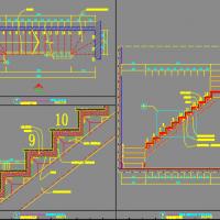 室内钢结构楼梯节点图大样图
