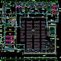 四川什邡6509平米三层框架结构食堂建筑及结构全套图