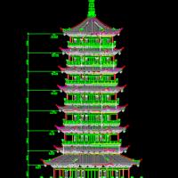 桂林榕杉湖景区仿古建筑施工图