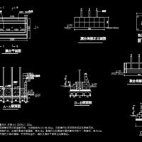 三杆式旗台施工图CAD详图