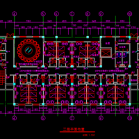 六层宾馆建筑平面图