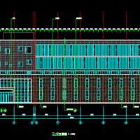 江苏13356平米健身中心建筑设计施工图(游泳 羽毛球馆)