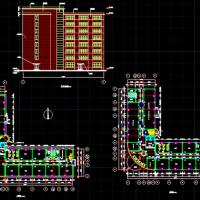 某8层框架L型办公楼建筑及结构全套毕业设计施工图
