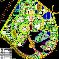 南京工程学院新校区总平面规划方案图