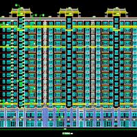 江阴12289平米16层高层住宅楼建结水电暖全套图(带两层商业服务网点)