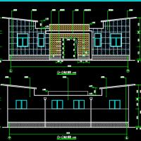 某沟槽式水冲厕所建筑设计施工图