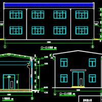 一层框架结构厂房建筑及结构全套图(5t吊车)