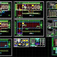 3154平米小型宾馆设计图纸(含浴室)