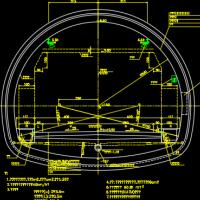 端墙式洞门隧道设计CAD图纸44张