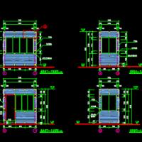 现代岗亭建筑及结构设计图纸
