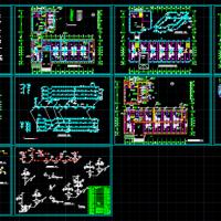 三层小型宾馆水暖给排水及消防设计图(简单实用)