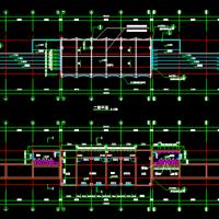 某学校运动场看台建筑及结构施工图