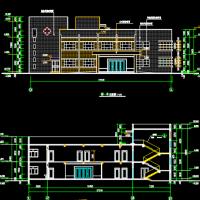 某地2层社区卫生服务站CAD设计图