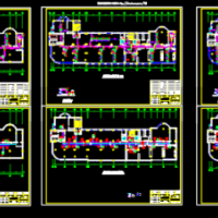 北京某办公楼大厦空调系统设计cad图纸
